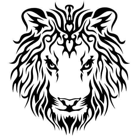 Tribal Lion King Tattoo Design Clip Art Library