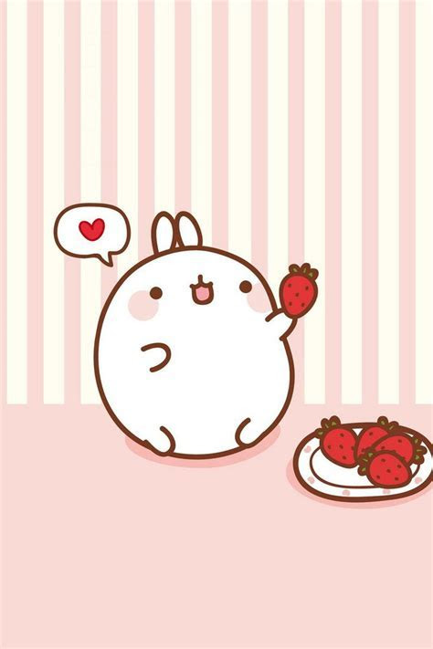 Molang ? Find more super cute Kawaii wallpapers for your #
