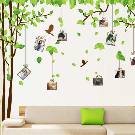 Photo Frames Tree Wall Sticker By Wallstudioscouk
