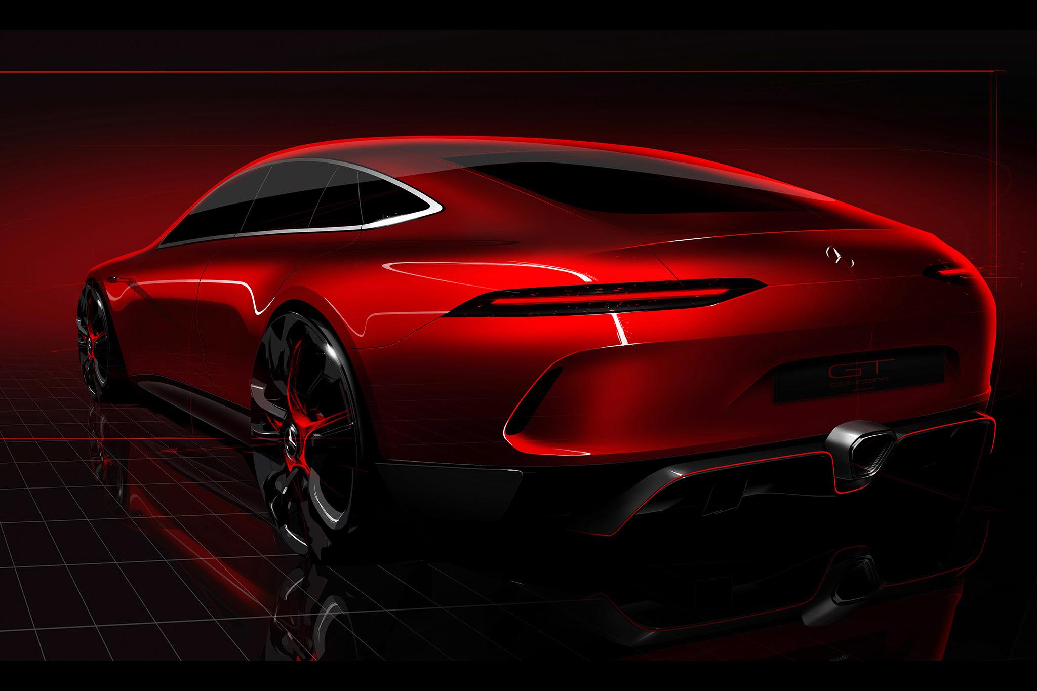 2017 Geneva Mercedes Benz AMG GT Concept, HD Cars, 4k ...