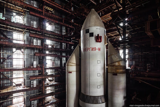 Abandoned Energia-M booster rocket