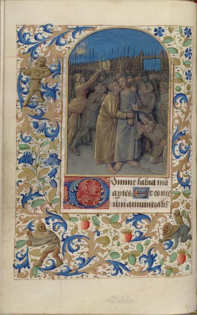 15th c. illuminated manuscript biblical miniature