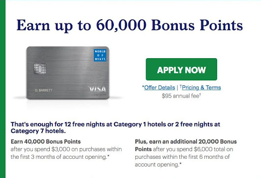 Up to 60k Bonus Points - New World of Hyatt Credit Card - The Reward Boss