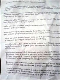 Leaflet by SL military warns academics, students