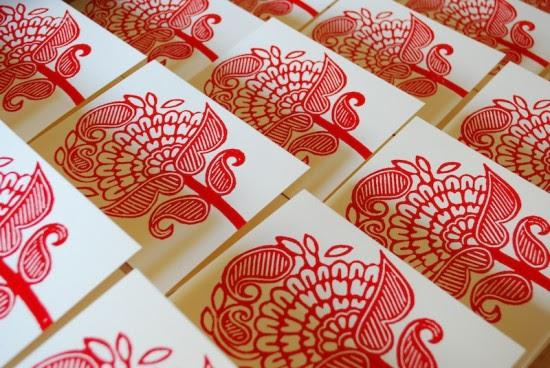 Printing Methods Block Printing Katharine Watson13 550x368 The Printing Process: Block Printing