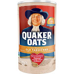 Quaker Oats Oatmeal, Old Fashioned - 42 oz canister