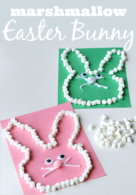Marshmallow Easter Bunny Craft - No Time For Flash Cards