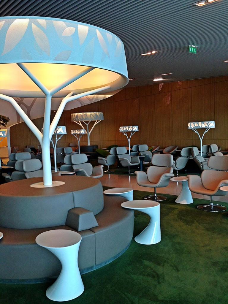 O lounge maravilhoso da Air France