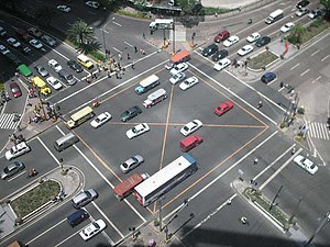 A photo of the intersection of Ayala Avenue an...