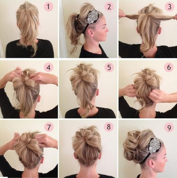 Updos  Tutorial  Beaded Headband Updo  Hairstyle  for Prom