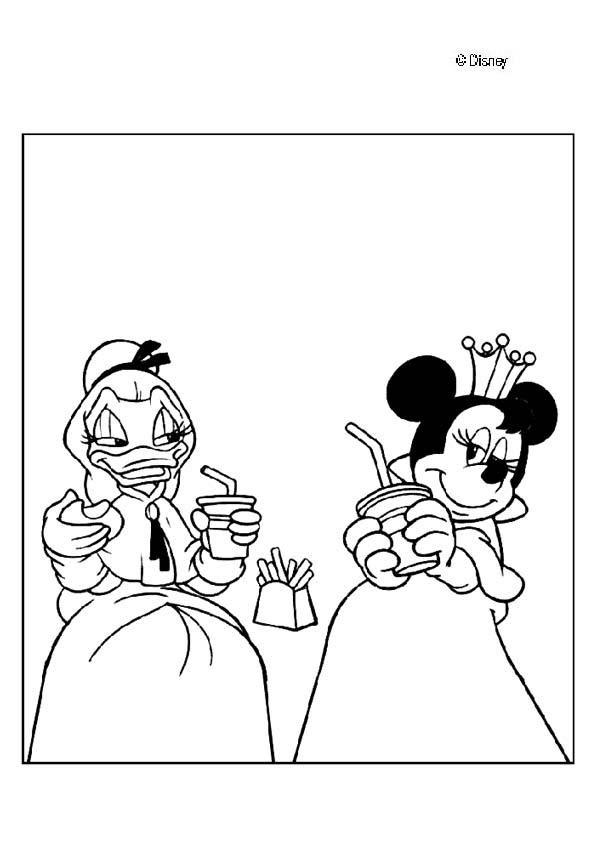 Dibujos Para Colorear Minnie Y Daisy Imagesacolorier Website