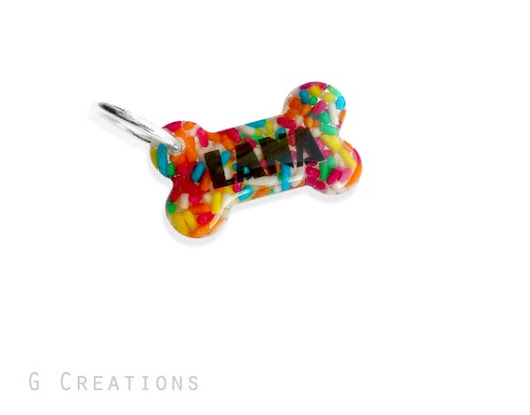 Personalized Rainbow Small Dog Tag  by GabriellesCreations on Etsy
