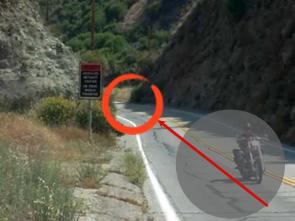 motorbike in a saccade