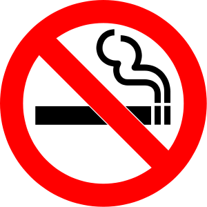 The No Smoking sign, designed by one of the me...