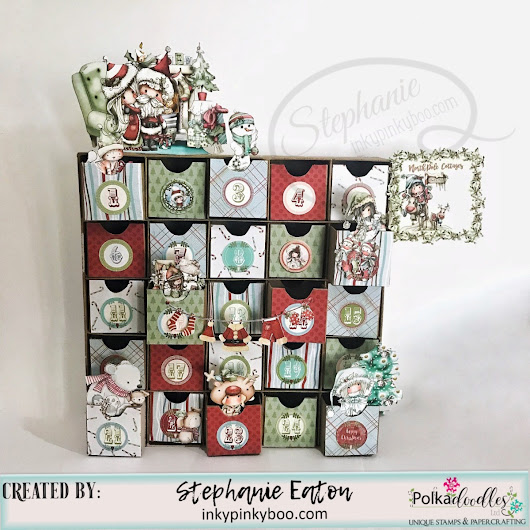 North Pole Cottages Advent Calendar | Polkadoodles DT Inspiration
