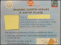 One of the Caernarfon leaflets
