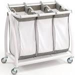 Seville Classics 3 Bag Tilt Laundry Sorter