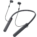 Sony C400 Wireless Behind-the-Neck In-Ear Earbuds Headphones Bluetooth Wireless Stereo Neckband Headset with Built-In Remote and Microphone, Black (