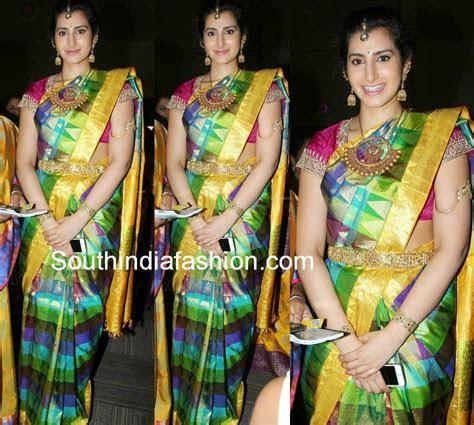 Designer Blouses for Kanjeevaram Sarees   Celebrity Sarees