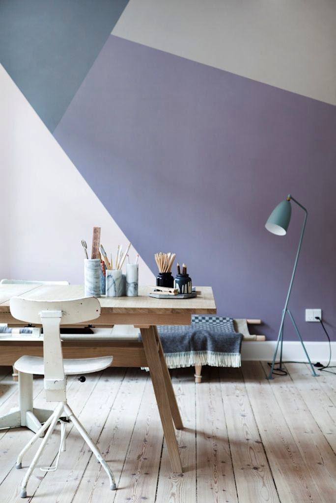 geometry painted walls - Improvised Life