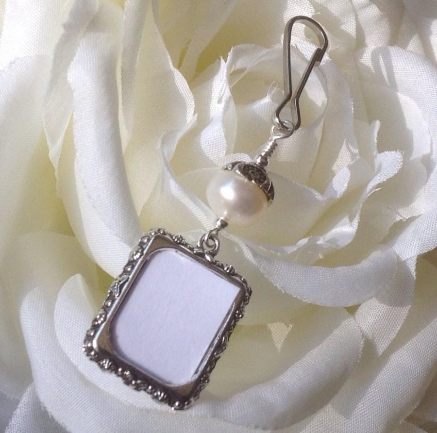 Wedding Bouquet Photo Charm Pearl Photo Charm Memorial Picture