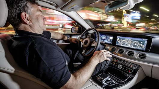 Hands off with the driverless Mercedes
