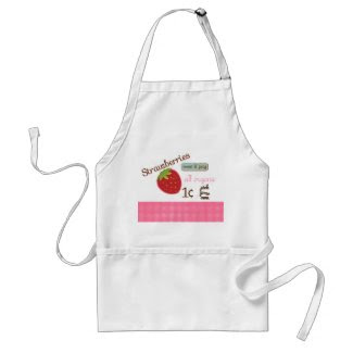 Vintage Strawberry Design Apron zazzle_apron
