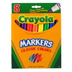 Crayola Washable Broad Line Markers, Classic Colors - 8 Count