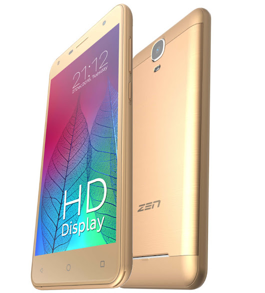 Zen Admire Metal with 5-inch HD display, 4G VoLTE launched for Rs. 5749