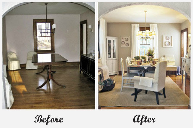 Room Makeovers each featuring a very different before and after!