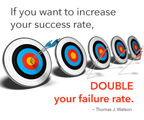 """If You Want To Increase Your Success Rate, DOUBLE Your"
