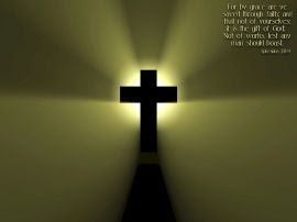 Papel de parede 'Efésios 2:8-9'