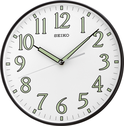 Seiko Wall Clock With Glowing Hands