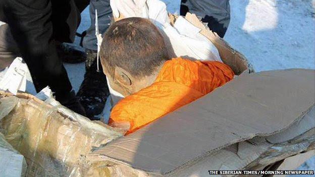 Το μουμιοποιημένο μοναχός που βρέθηκε στις 27 Ιανουαρίου στη Μογγολία