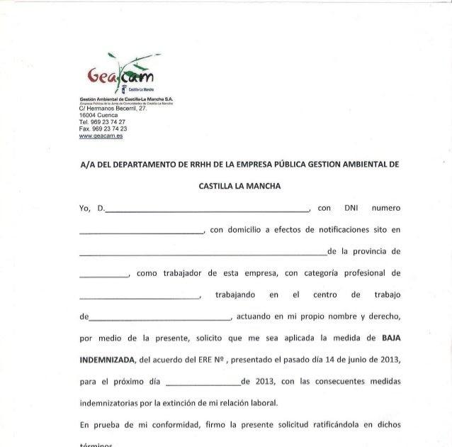 Modelo Carta De Baja Voluntaria En La Empresa Recipes Blog U