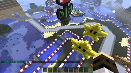 mario kart minecraft map