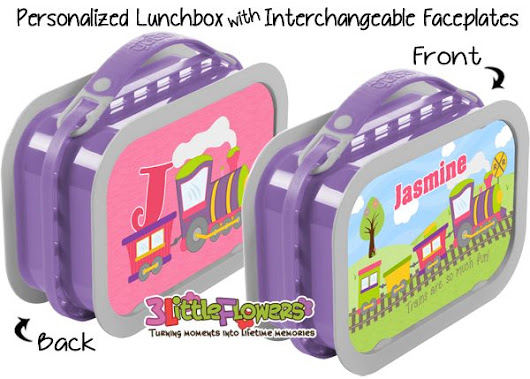 New item on our store: Plastic Lunchboxes!! - Girl Train Lunchbox ~ 3 Little Flowers - The Blog