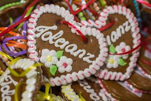 "Ginger bread hearts inscribed ""Tolerance"" …"
