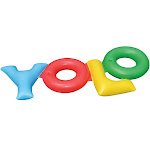 Swimline 90631 YOLO You Only Live Once Inflatable Swimming Pool Toy Raft Float by VM Express