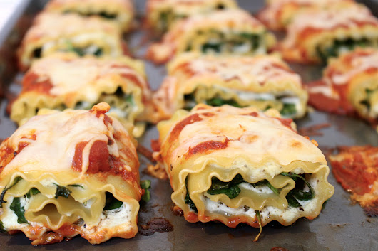 Spinach and Arugula Lasagna Roll-Ups - Mom to Mom Nutrition