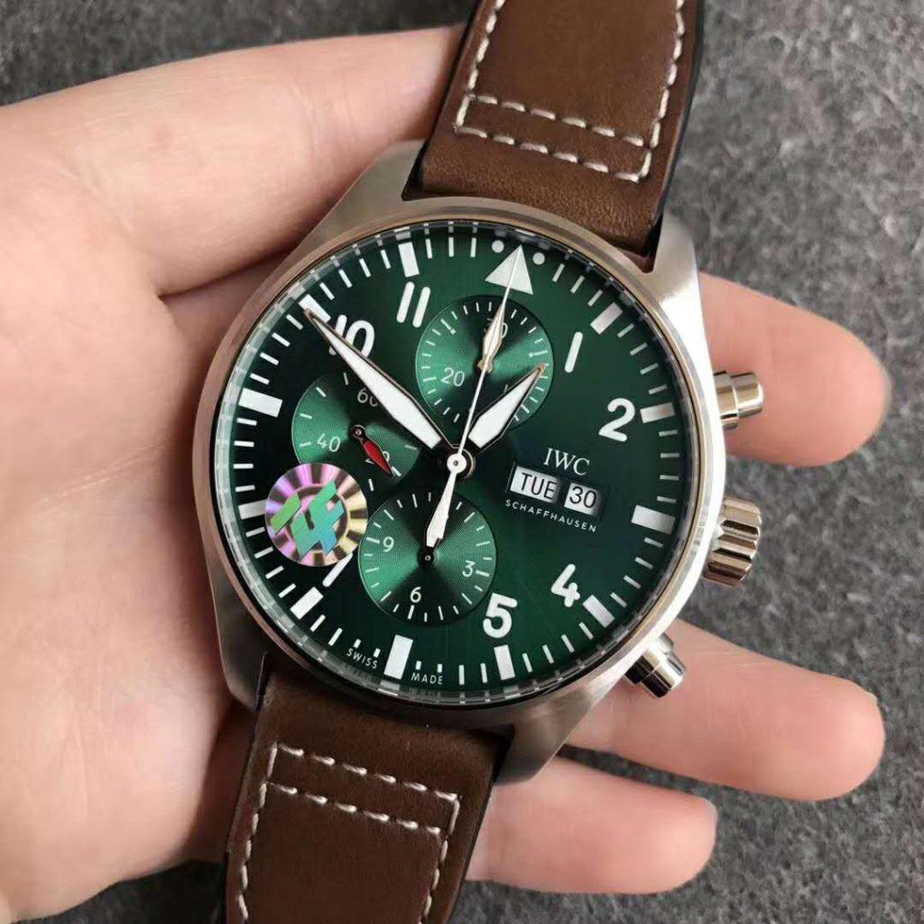 Replica IWC Pilot Chrono Green