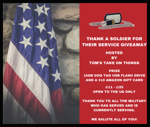 Thank A Soldier For Their Service Giveaway - Ends 1/25