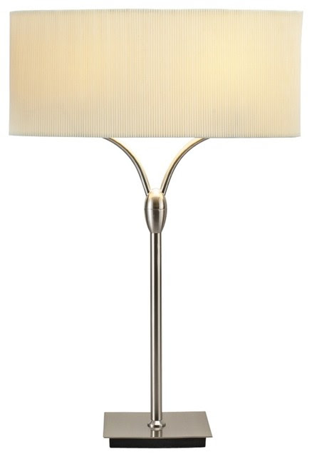 Contemporary Divinity Satin Steel Contemporary Table Lamp ...