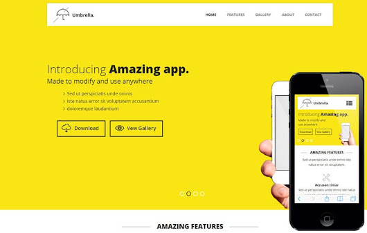 Umbrella a Mobile App based Flat Bootstrap Responsive web template by w3layouts