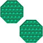 Fidget Pack Pop Pop – 2 pcs Pop Up Fidget Toys for Kids – Stress Relief Fidgets – Anti Stress Squeeze Toys (Green + Orange) (Set: 2 x Green)