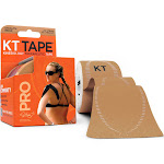 Kt Tape Pro Therapeutic Tape, Stealth Beige, 10 Inch Precut - 20 strips