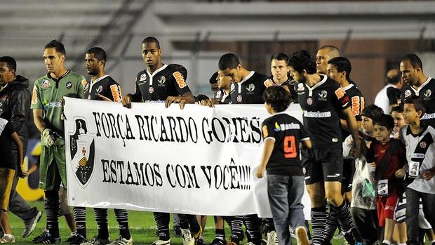 VASCO X CEARÁ faixa ricardo gomes (Foto: André Durão/Globoesporte.com)
