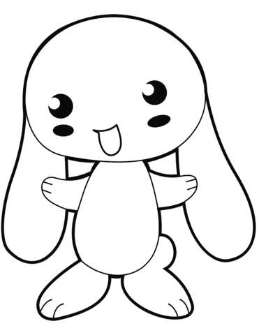 cute anime bunny coloring page  free printable coloring pages