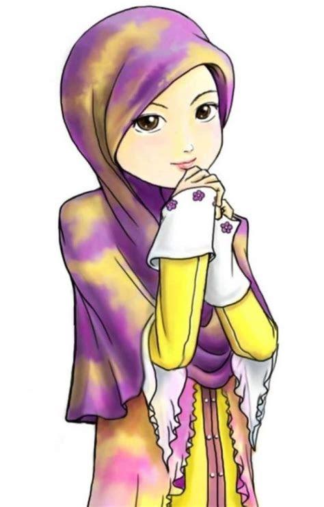 gambar kartun muslimah comel terbaru top gambar