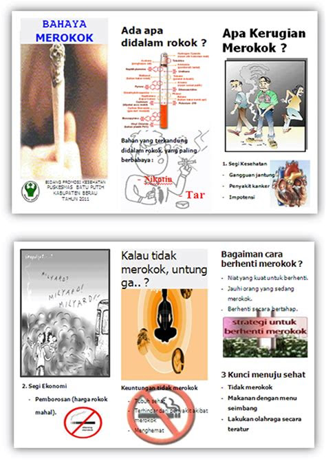 inovasi poster leaflet  plakat promkes pkm batu putih